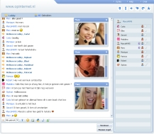 Screenshot van de chatbox
